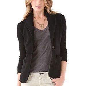 James Perse blazer cotton black 2 NWT.